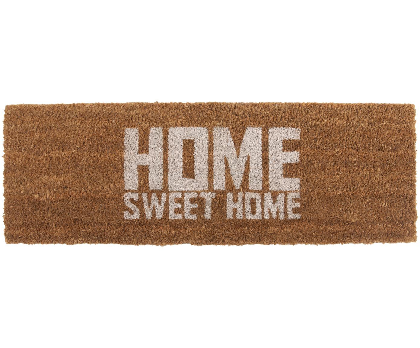 Wycieraczka Home Sweet Home, Włókno kokosowe, Brązowy, biały, S 26 x D 77 cm