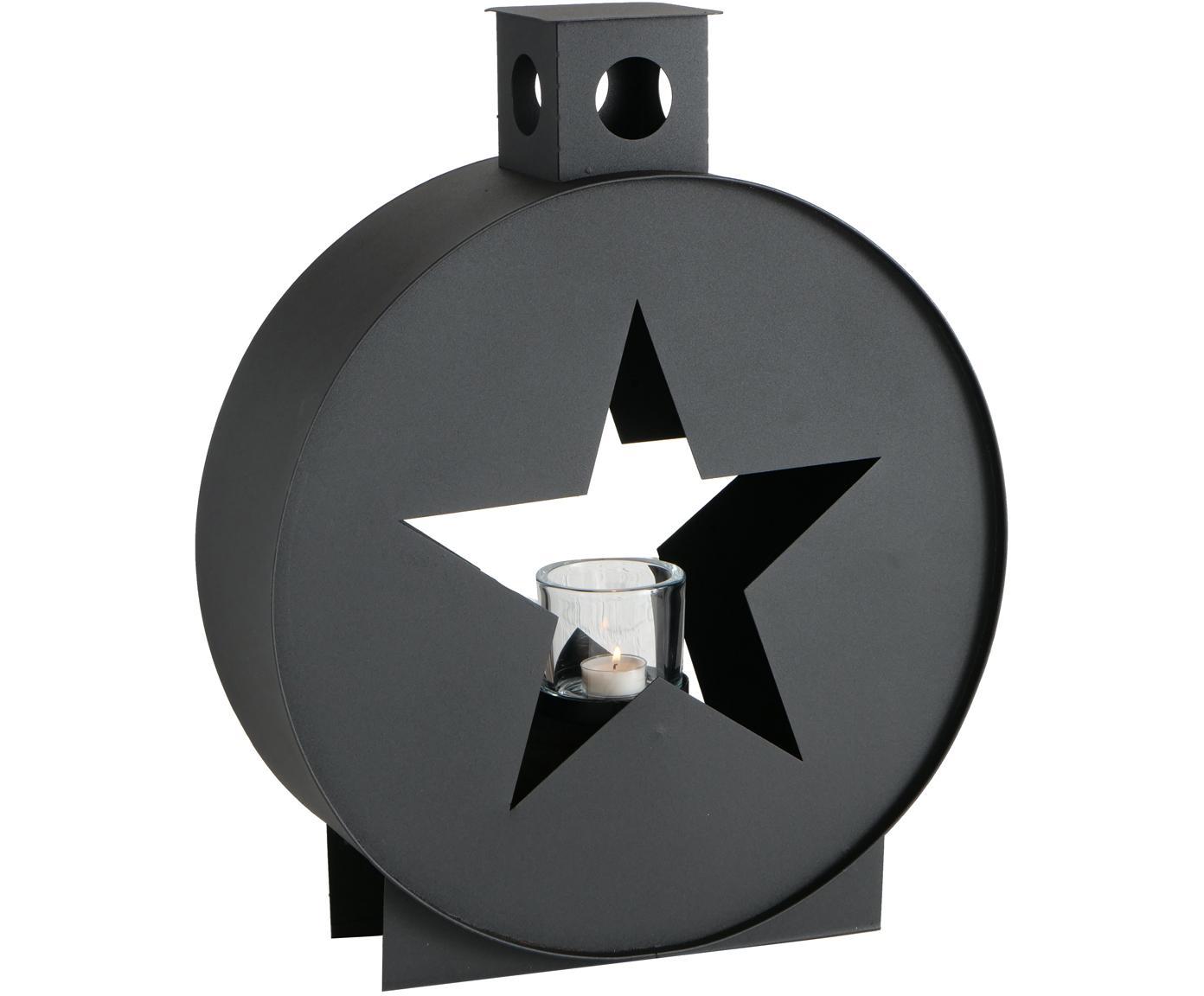 Portacandela Jolly, Portacandela: nero, Nero, Larg. 32 x Alt. 42 cm