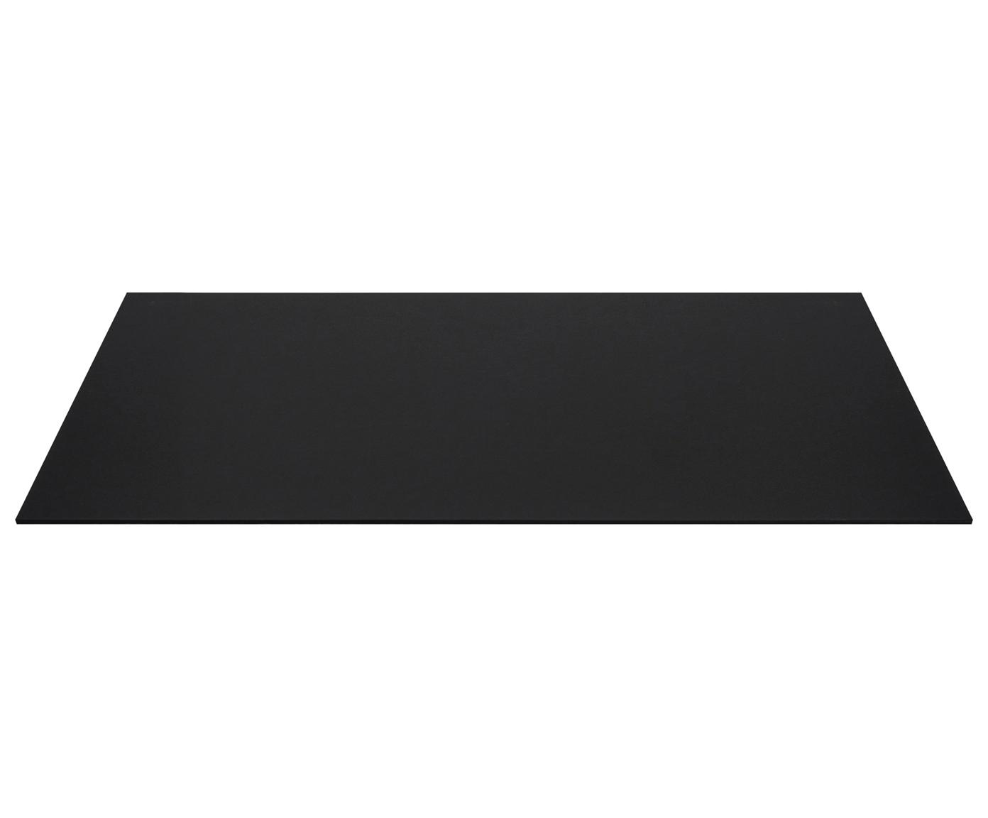 Bureaumat Annie, Stevig, gelamineerd karton, Zwart, B 59 x D 39 cm