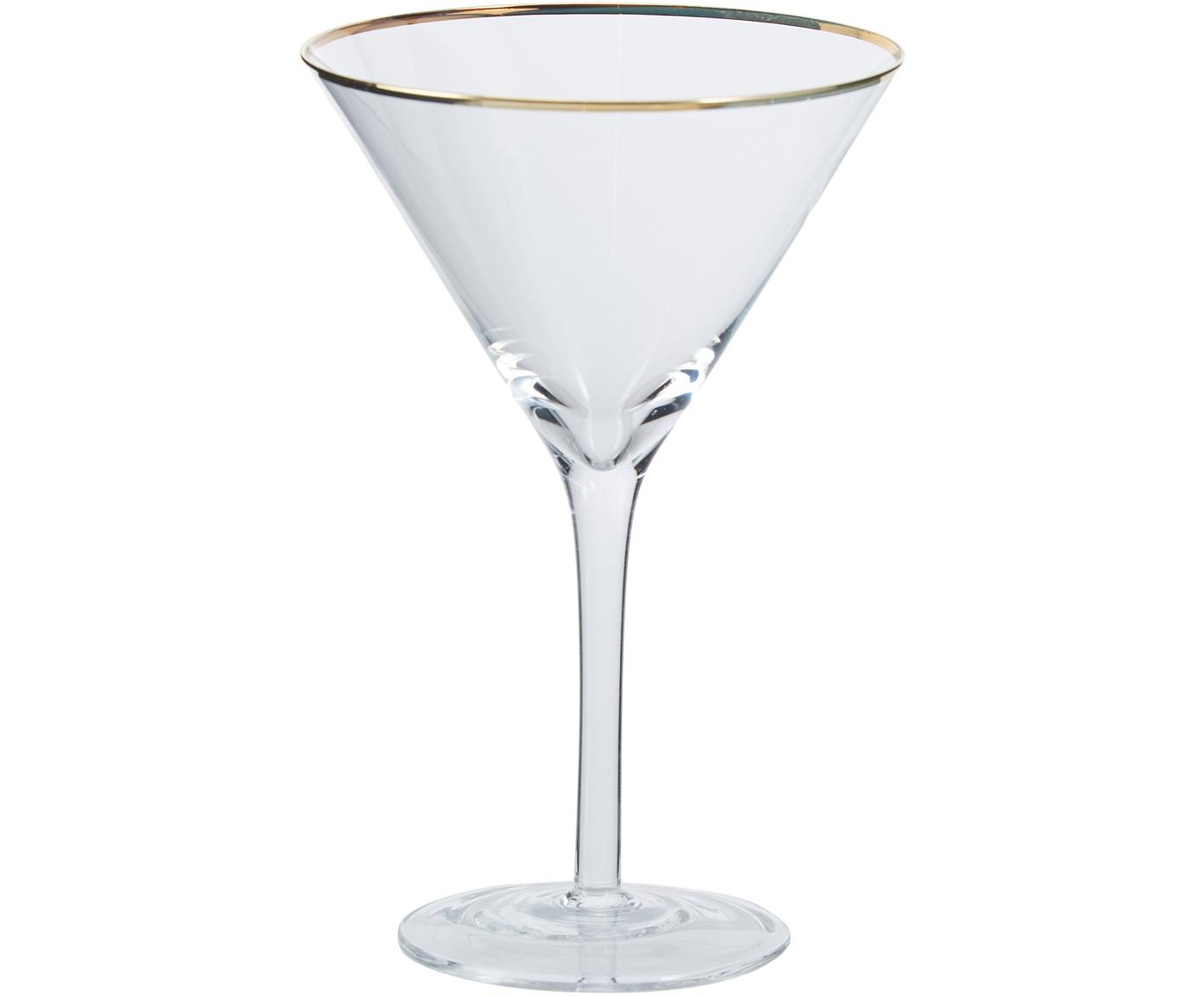 Copas martini Chloe, 4uds., Vidrio, Transparente, Ø 12 x Al 19 cm