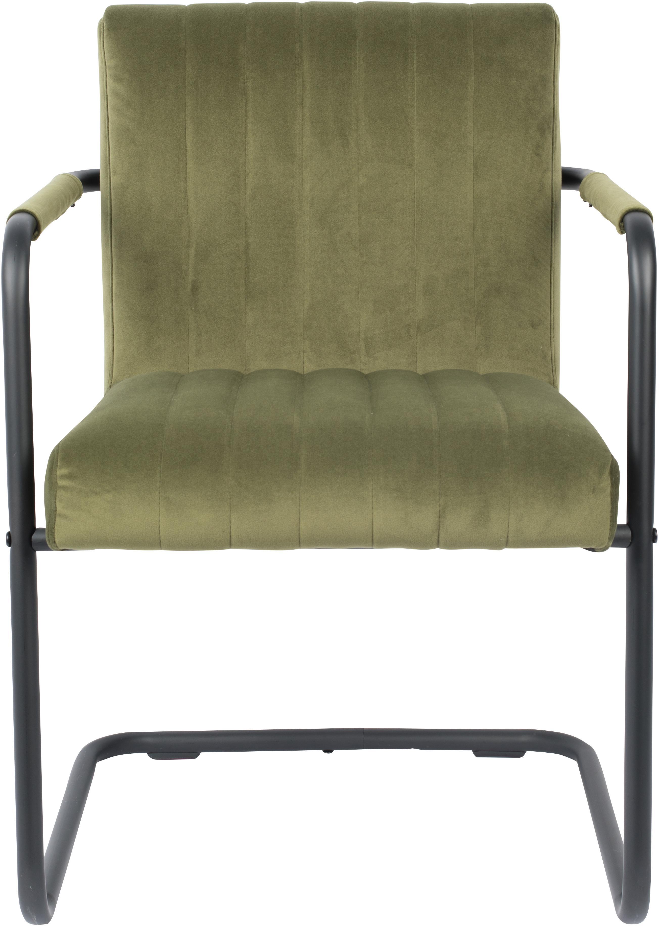 Samt Freischwinger Stuhl Stitched Mit Armlehne Westwingnow