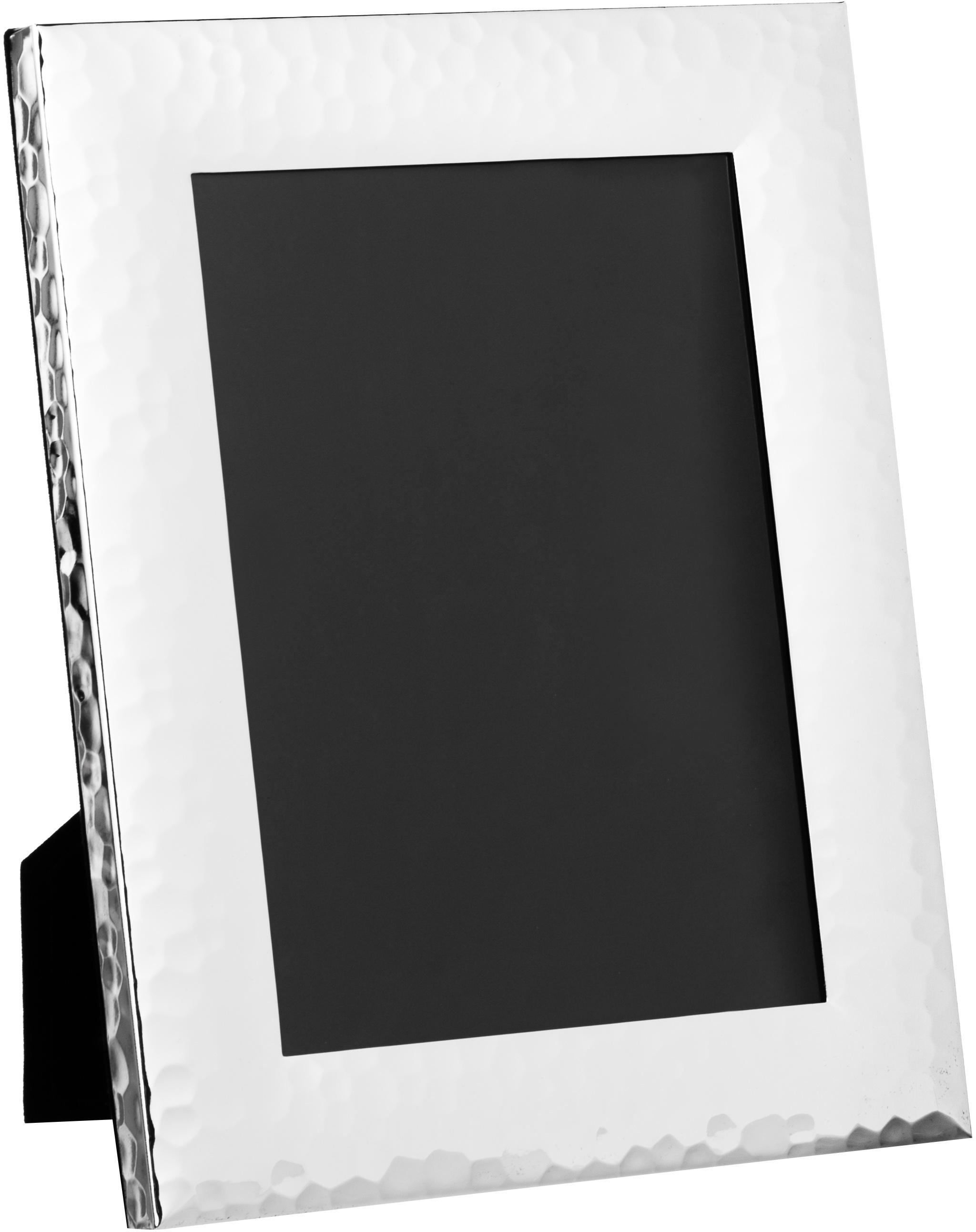 Cornice da tavolo in metallo Gubbio, Cornice: metallo, argentato, Argento, 13 x 18 cm