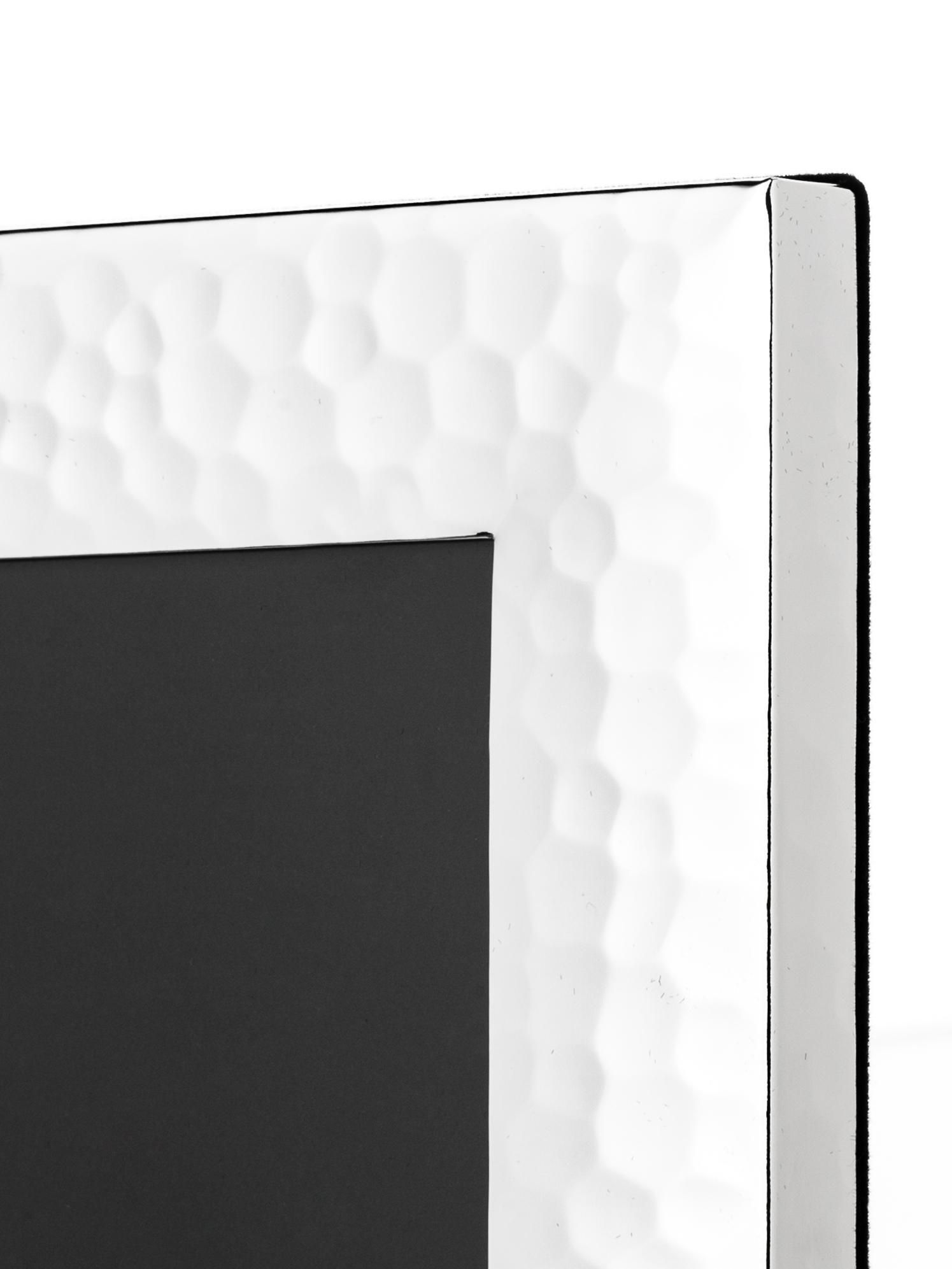 Bilderrahmen Gubbio, Rahmen: Metall, versilbert, Front: Glas, Rückseite: Mitteldichte Faserplatte , Silber, 13 x 18 cm