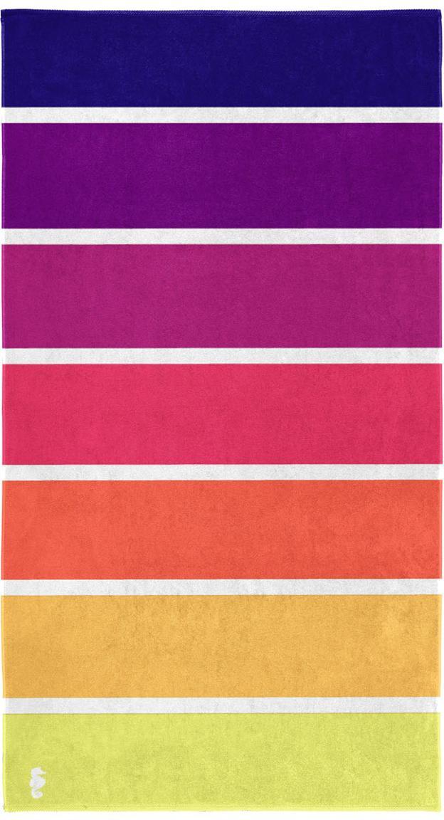 Strandtuch Marbella, 100% Baumwolle, Gelb, Orange, Pink, Lila, Violett, 100 x 180 cm