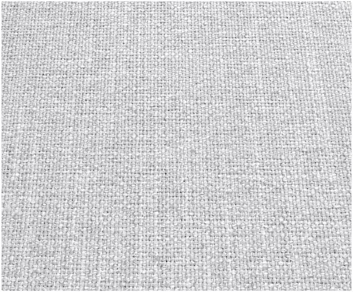 Divano 3 posti in tessuto grigio chiaro Moby, Rivestimento: poliestere 60.000 cicli d, Struttura: legno di pino massiccio, Piedini: metallo verniciato a polv, Grigio chiaro, Larg. 220 x Prof. 95 cm
