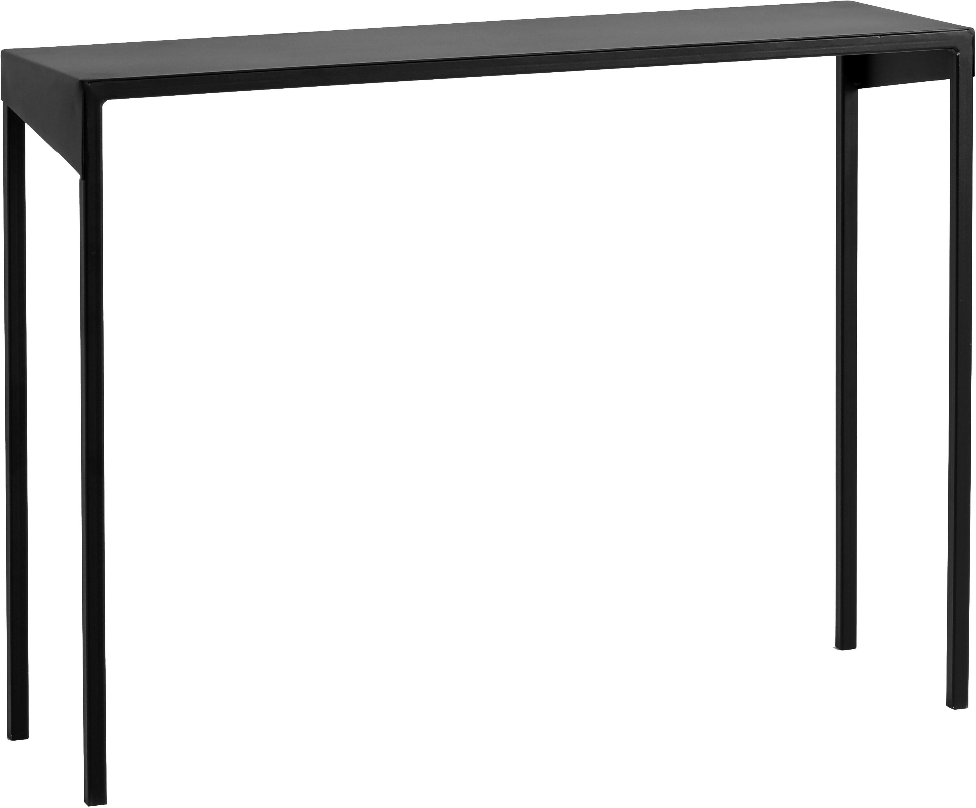 Konsola Obroos, Metal lakierowany, Czarny, S 100 x W 75 cm