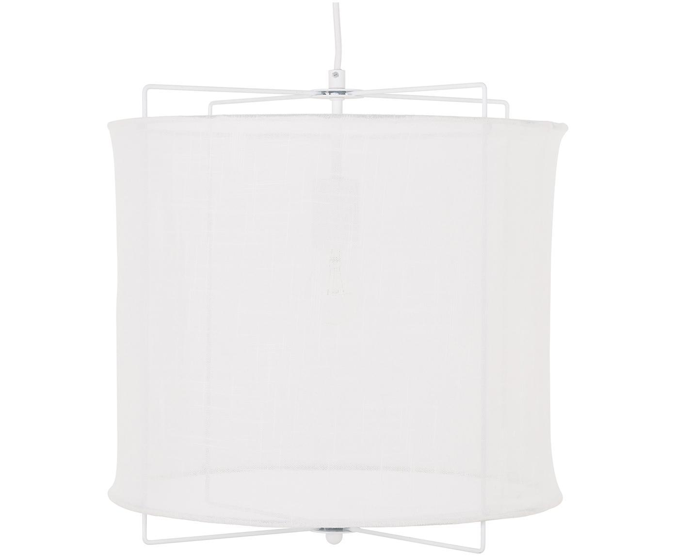 Pendelleuchte Clouds aus Leinen, Lampenschirm: Leinen, Weiss, ∅ 40 x H 40 cm