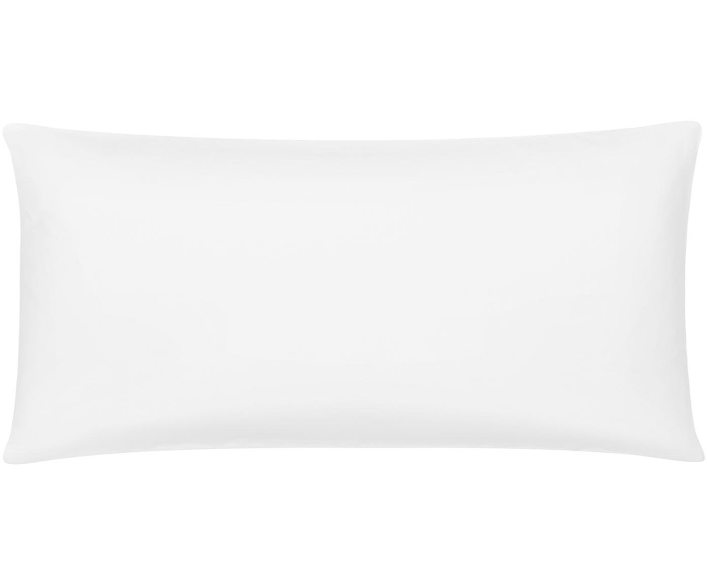 Bambus-Kissenbezüge Skye in Weiß, 2 Stück, 55% Bambus, 45% Baumwolle  Fadendichte 400 TC, Premium Qualität  Bambus ist hypoallergen und antibakteriell. Daher eignet das Material sich hervorragend für empfindliche Haut. Es ist amungsaktiv und absorbiert Feuchtigkeit, um so die Körpertemperatur im Schlaf zu regulieren., Weiß, 40 x 80 cm