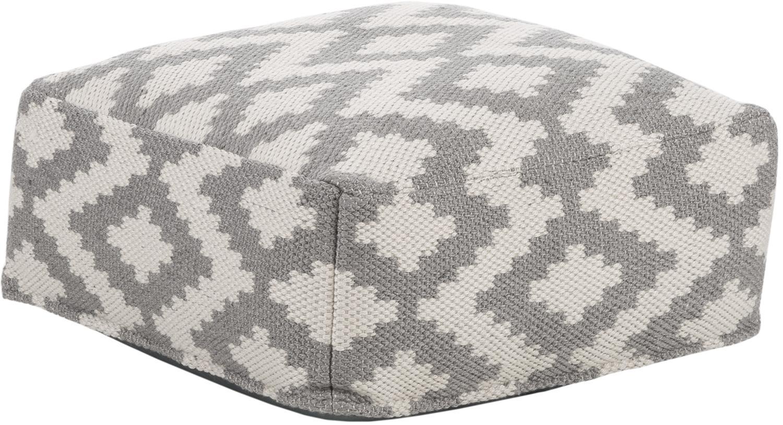 Cuscino da pavimento da interno-esterno Napua, Rivestimento: 100% poliestere riciclato, Grigio, beige, Larg. 63 x Alt. 30 cm
