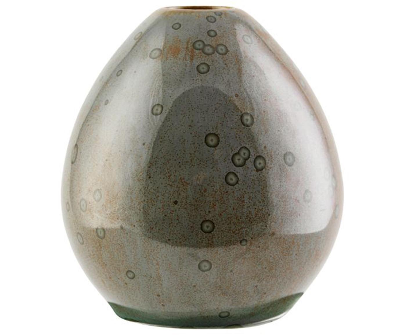 Jarrón artesanal pequeño de gres Baby, Gres, Marrón, brillante, Ø 9 x Al 10 cm