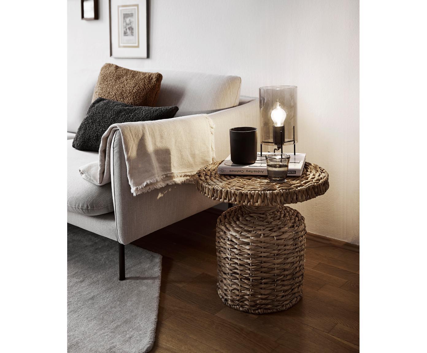 Lampa stołowa Laurel, Klosz: szary, transparentny Podstawa lampy: czarny, matowy Kabel: transparentny, Ø 14 x W 28 cm