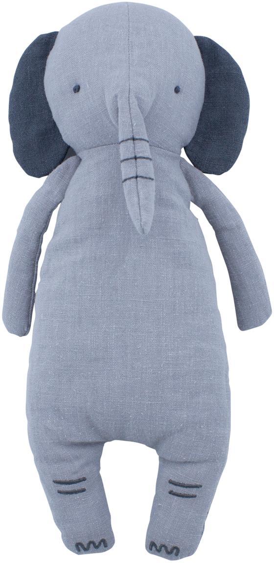 Peluche elefante Finley, Rivestimento: cotone, Grigio, Larg. 13 x Alt. 32 cm