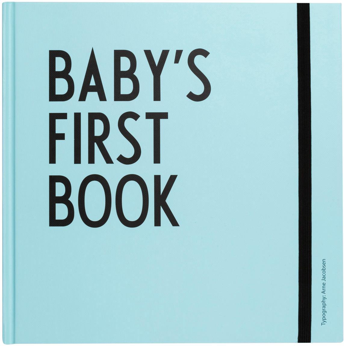 Babyboek Baby´s First Book, Papier, Blauw, 25 x 25 cm