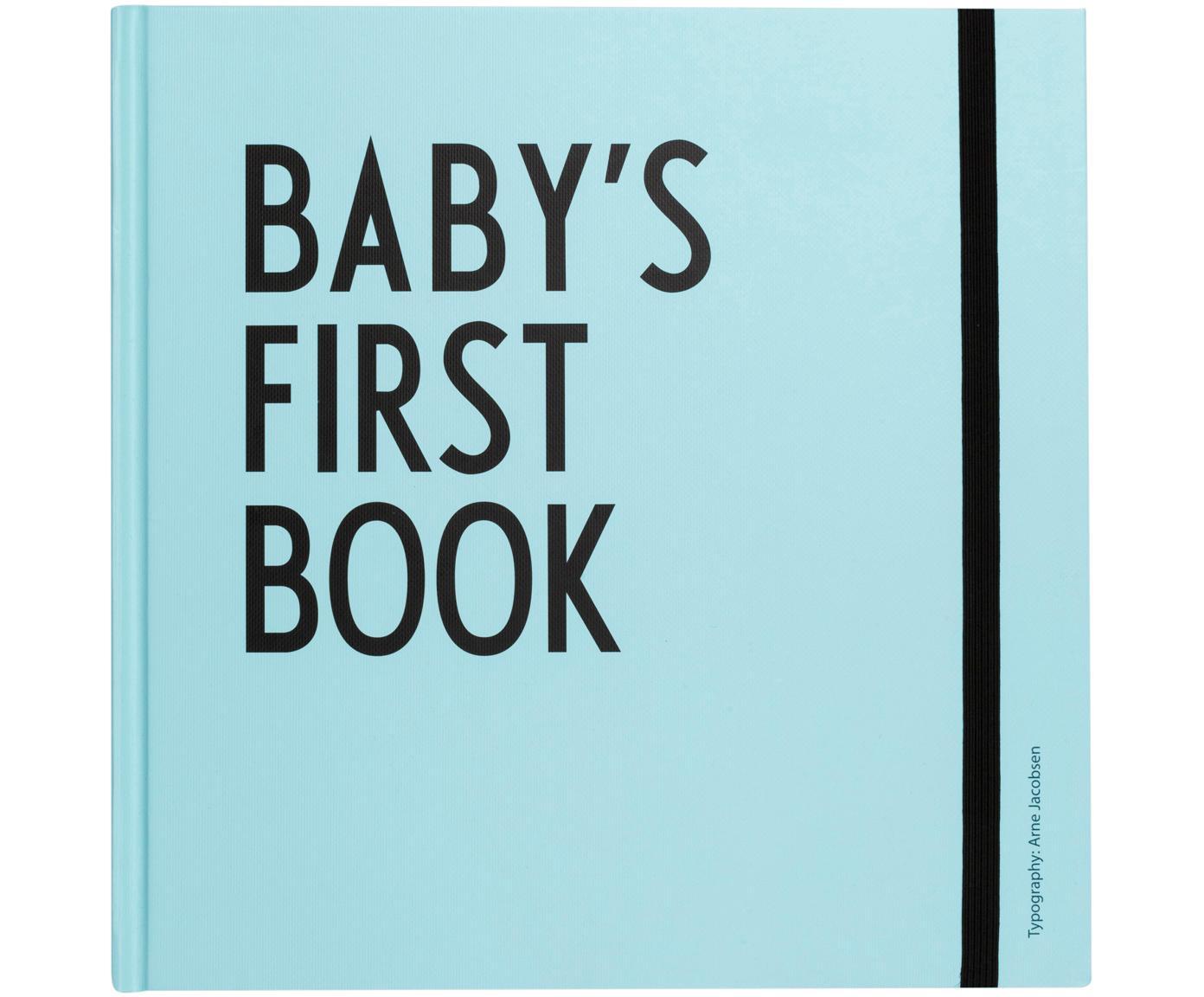 Księga pamiątkowa Baby´s First Book, Papier, Niebieski, S 25 x W 25 cm