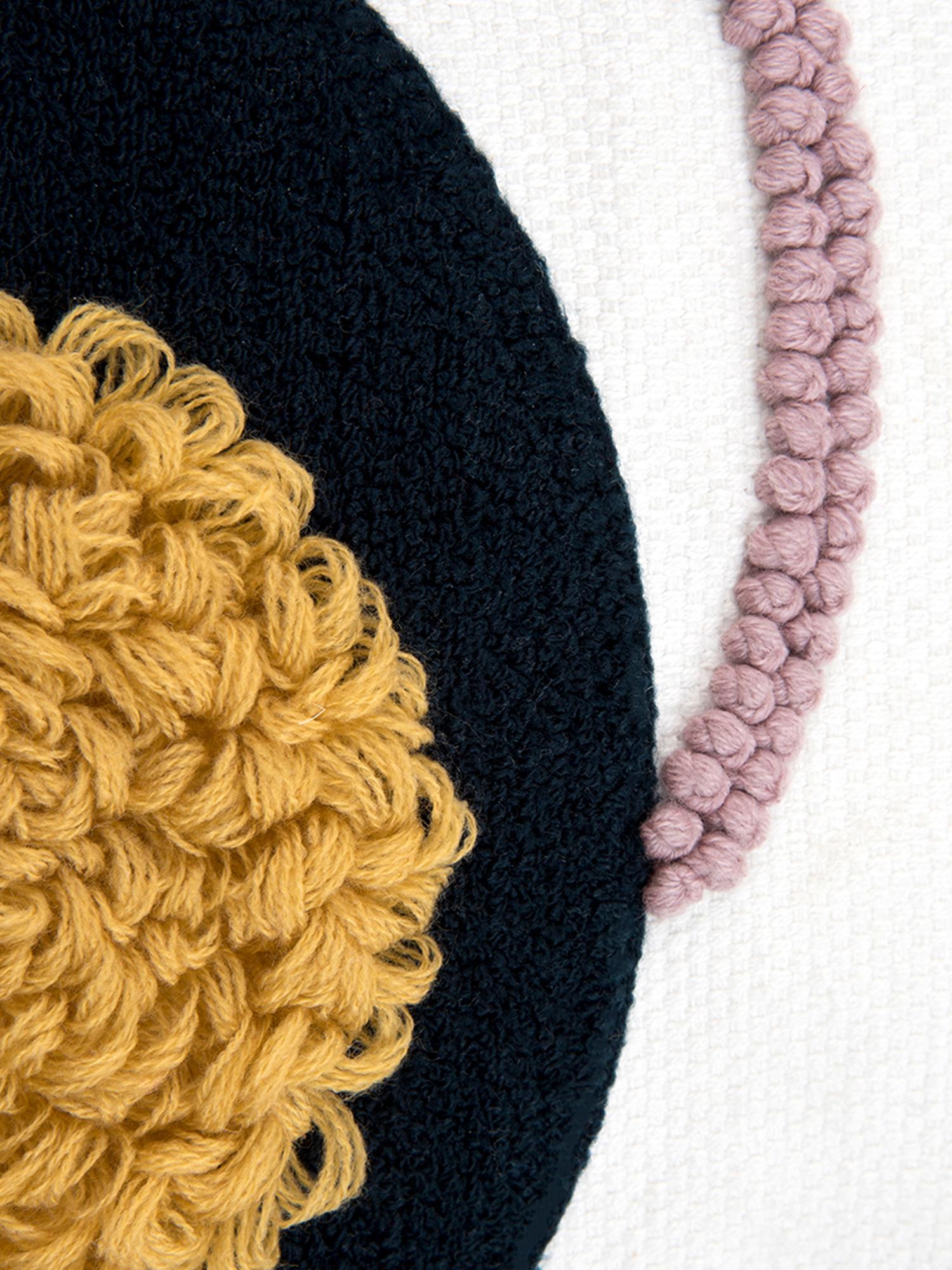 Housse de coussin à déco abstraite Allard, Endroit: multicolore Envers: blanc