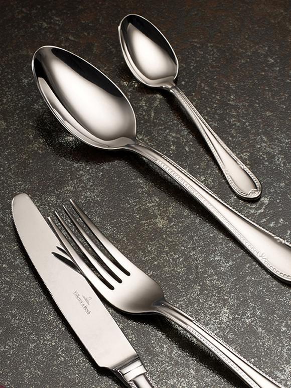 Ménagère en acier inoxydable argenté Mademoiselle, 6personnes (24élém.), Acier inoxydable, brillant