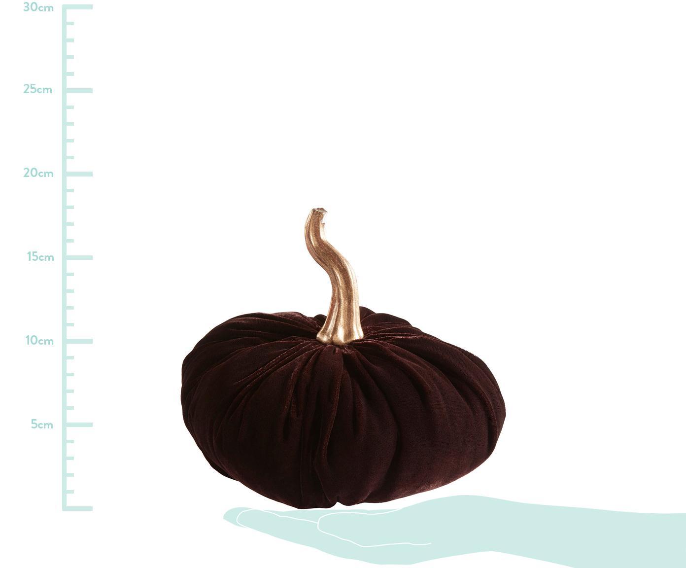 Zucca decorativa Pumpis, 15% poliresina, 35% acrilico, 25% poliestere, 25% riempimento con sabbia di quarzo, Marrone, Ø 19 x Alt. 18 cm