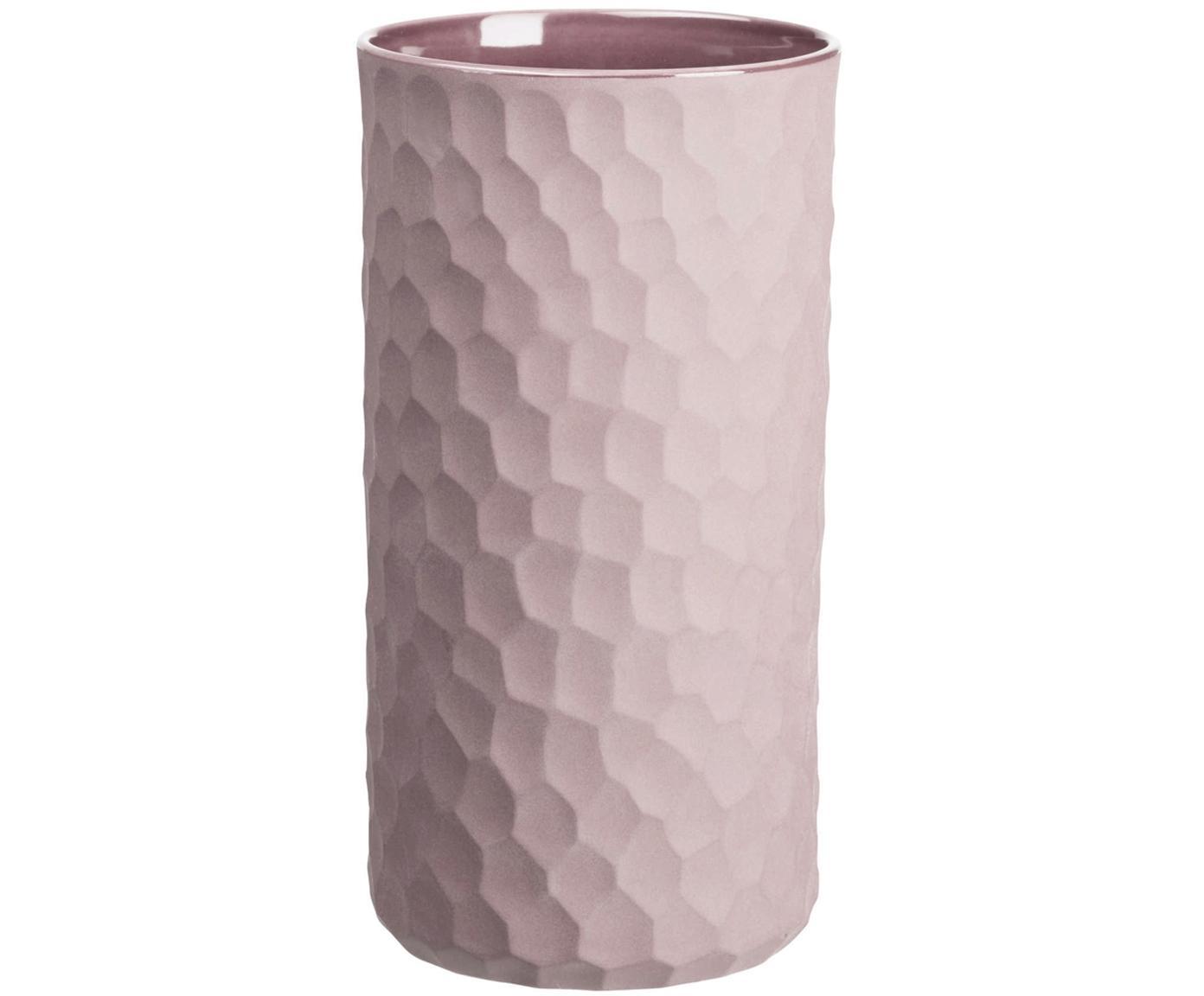 Vase Power aus Steingut, Steingut, Puderrosa, Ø 12 x H 24 cm