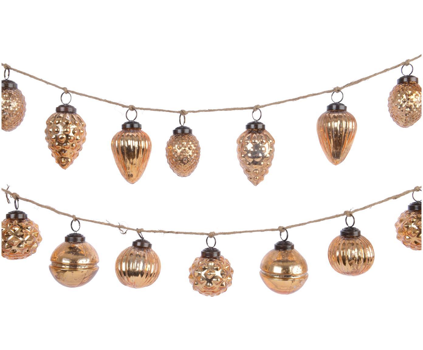 Set de guirnaldas navideñas Dil, 2pzas., Vaso, Dorado, L 120 cm
