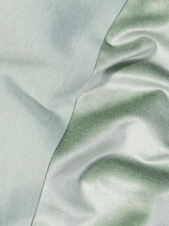 Kissenhülle Adelaide aus Samt/Leinen in Salbeigrün, Salbeigrün, 40 x 40 cm