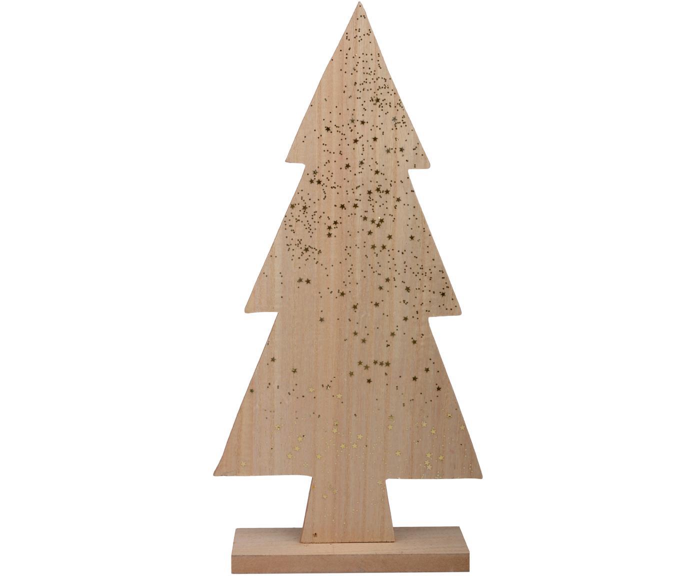 Deko-Objekt Glean, Holz, Holz, Goldfarben, 17 x 36 cm