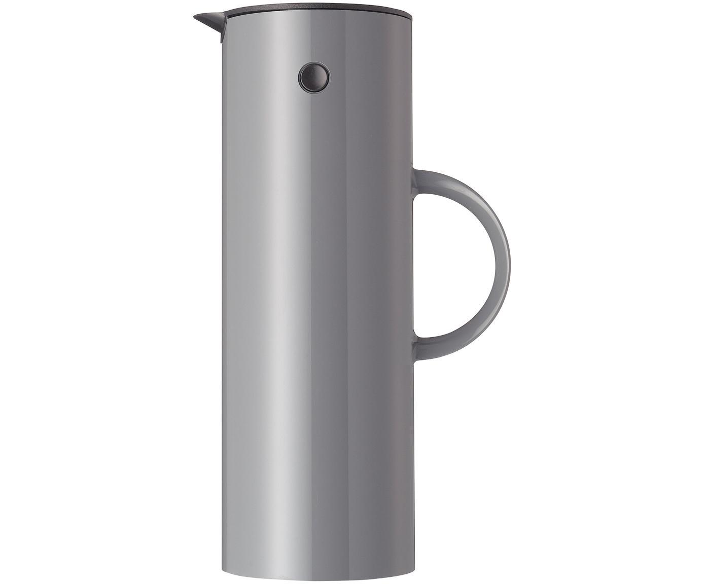 Thermosfles EM77 in glanzend grijs, ABS, aan de binnenkant met glazen inleg, Granietgrijs, 1 L