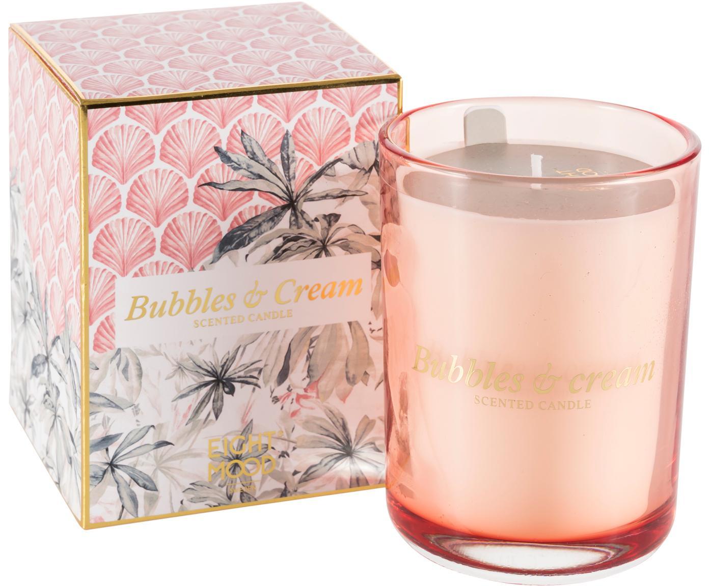 Świeca zapachowa Allure (tuberoza, jaśmin, drewno cedrowe), Blady różowy, wielobarwny, S 9 x W 12 cm