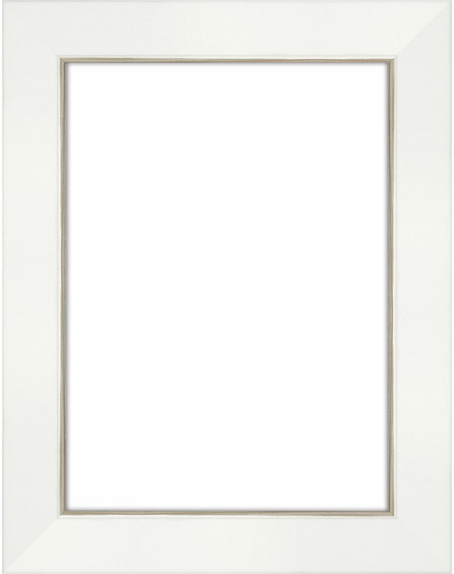 Bilderrahmen Classico, Rahmen: Waldkiefernholz (Pinus Sy, Front: Glas, Rückseite: Mitteldichte Holzfaserpla, Weiß, 13 x 18 cm