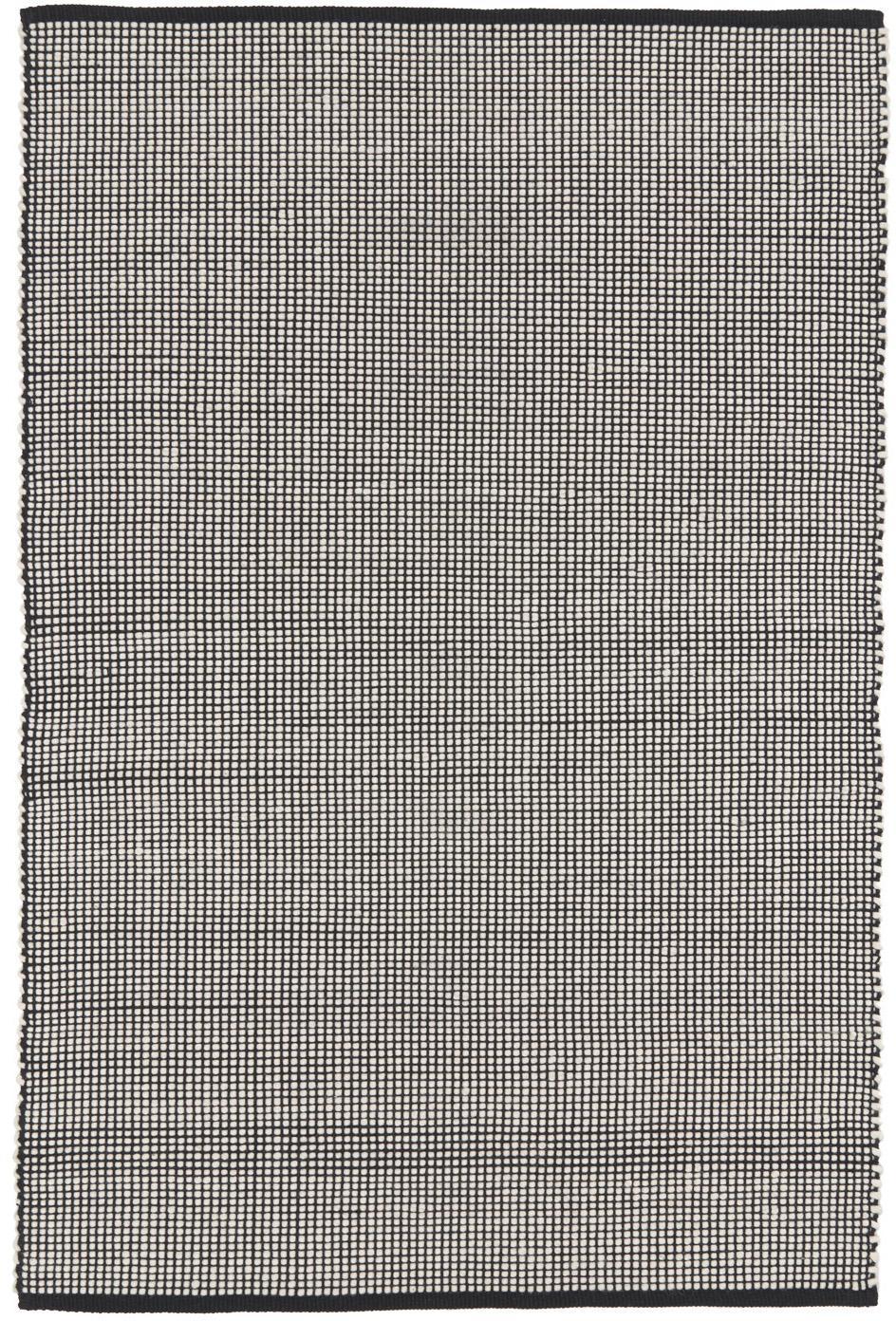 Alfombra de lana tejida artesanalmente Amaro, Negro, blanco crema, An 200 x L 300 cm (Tamaño L)