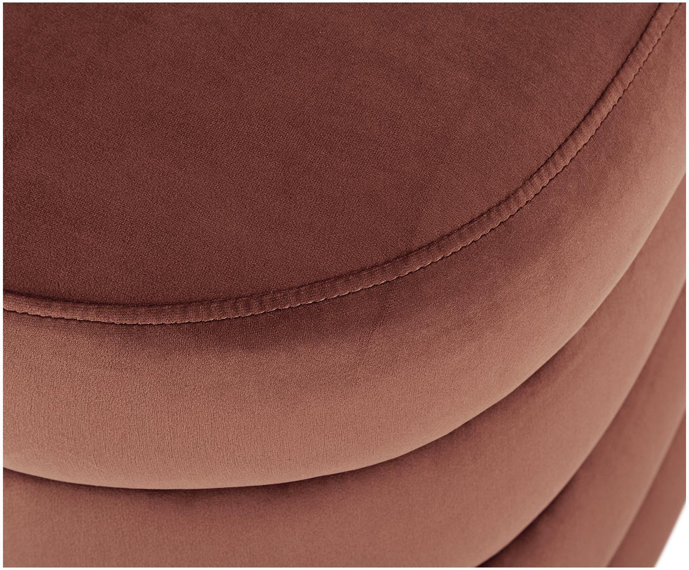 Fluwelen bank Alto, Bekleding: fluweel (polyester), Frame: massief grenenhout, multi, Bruin, 110 x 48 cm