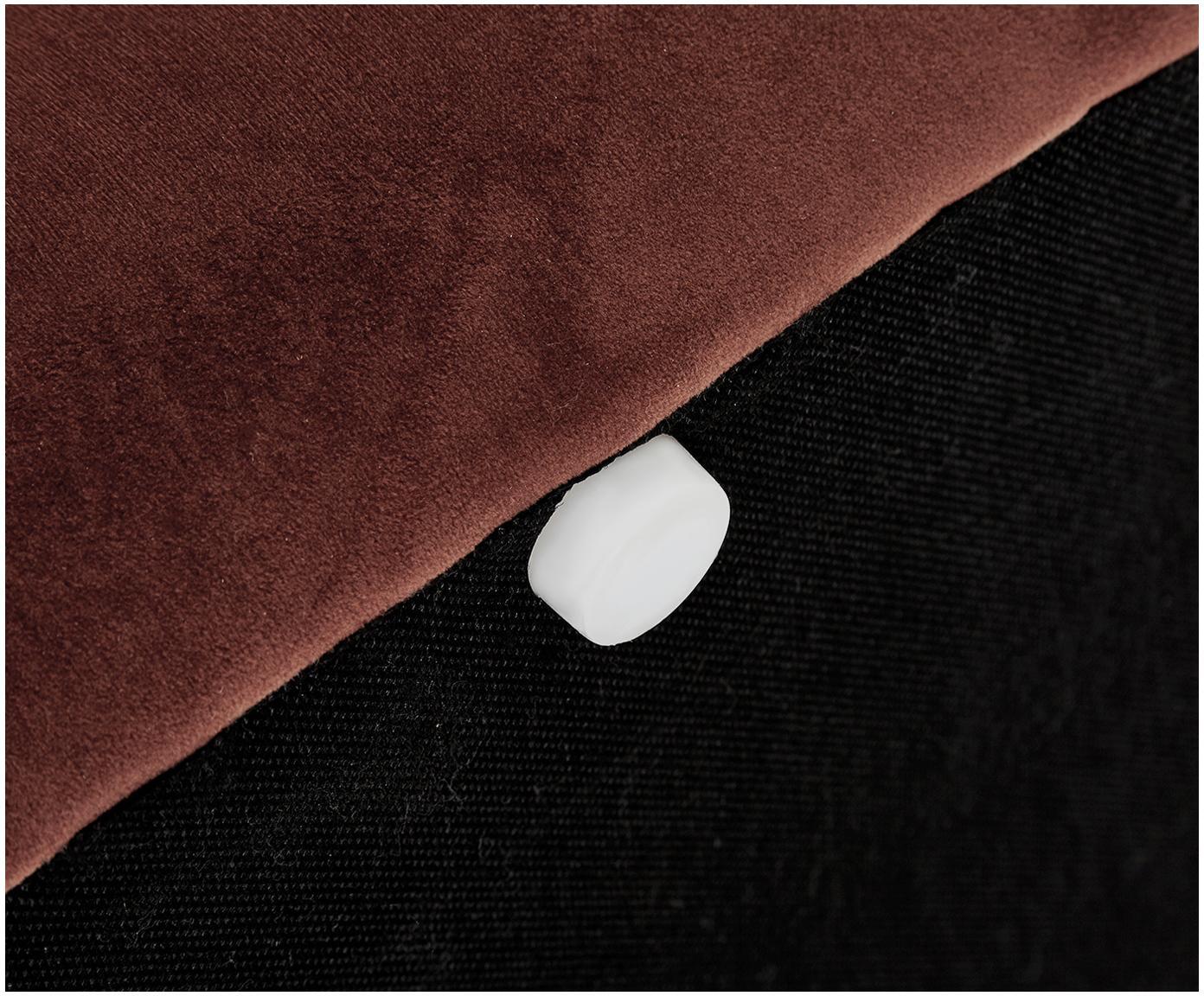 Ławka tapicerowana z aksamitu Alto, Tapicerka: aksamit (poliester) 3000, Stelaż: lite drewno sosnowe, skle, Brązowy, S 110 x W 48 cm