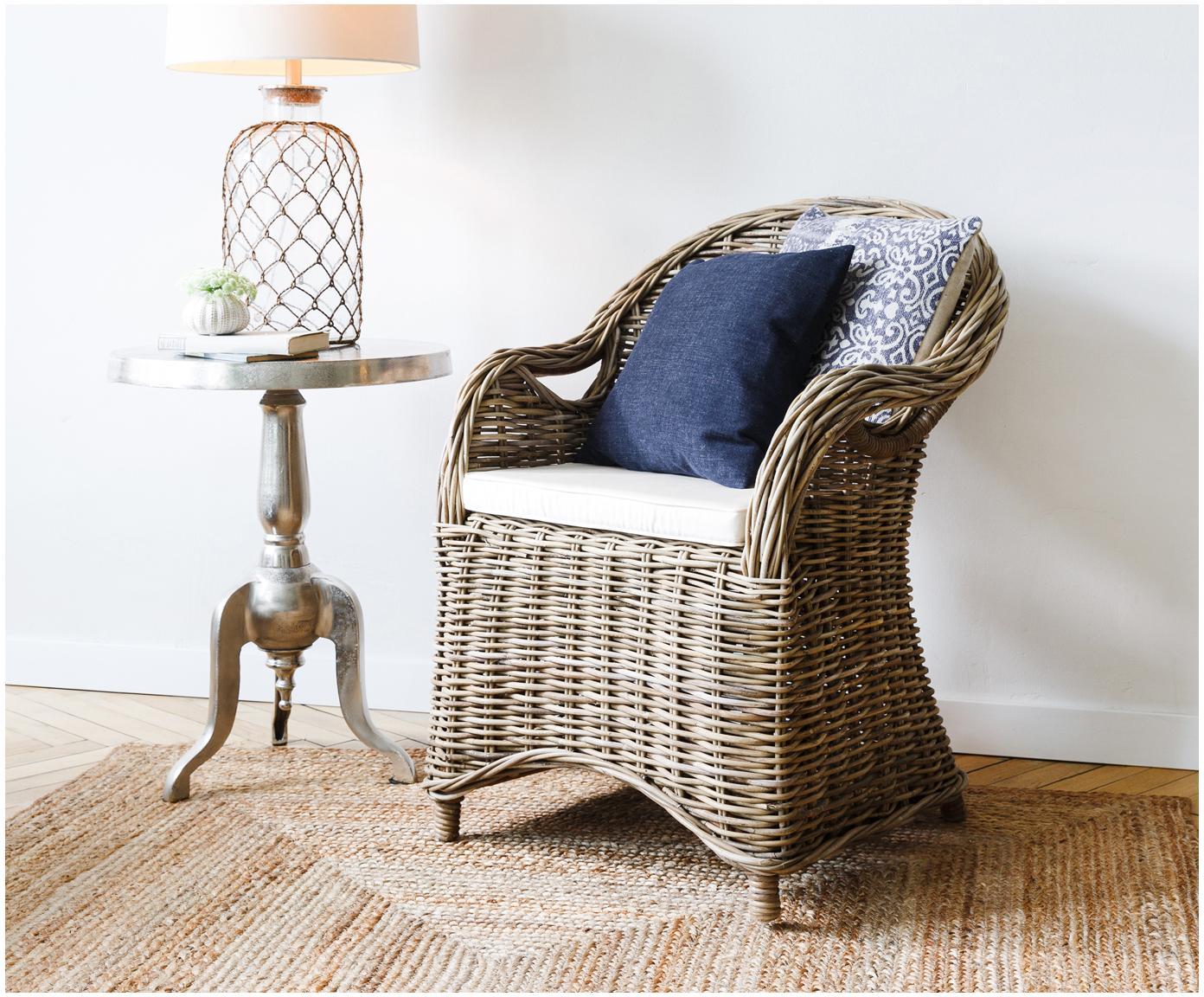 Fotel z rattanu Martin, Brązowy, 60 x 89 cm