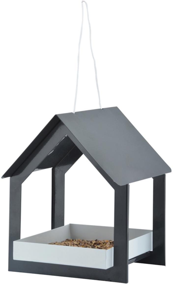 Futterhaus Rado, Weichstahl, beschichtet, Anthrazit, Weiss, 19 x 23 cm