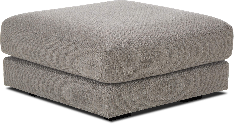 Sofa-Hocker Tribeca, Bezug: Polyester Der hochwertige, Gestell: Massives Kiefernholz, Dunkelgrau, 80 x 40 cm