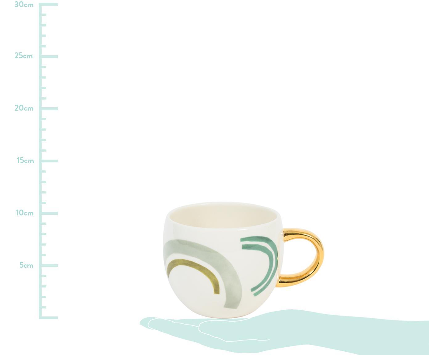 Malovaný kávový šálek se zlatým ouškem Bounce, Více barev