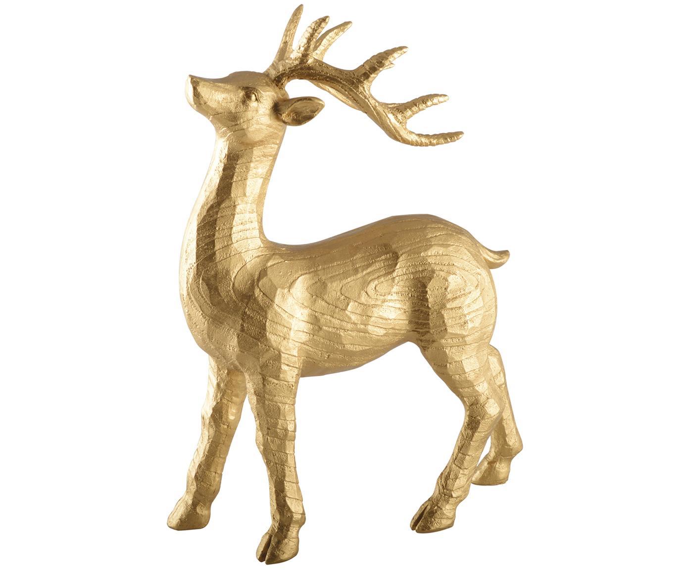 Dekoracja Deer, Poliresing, Odcienie złotego, S 28 x W 21 cm