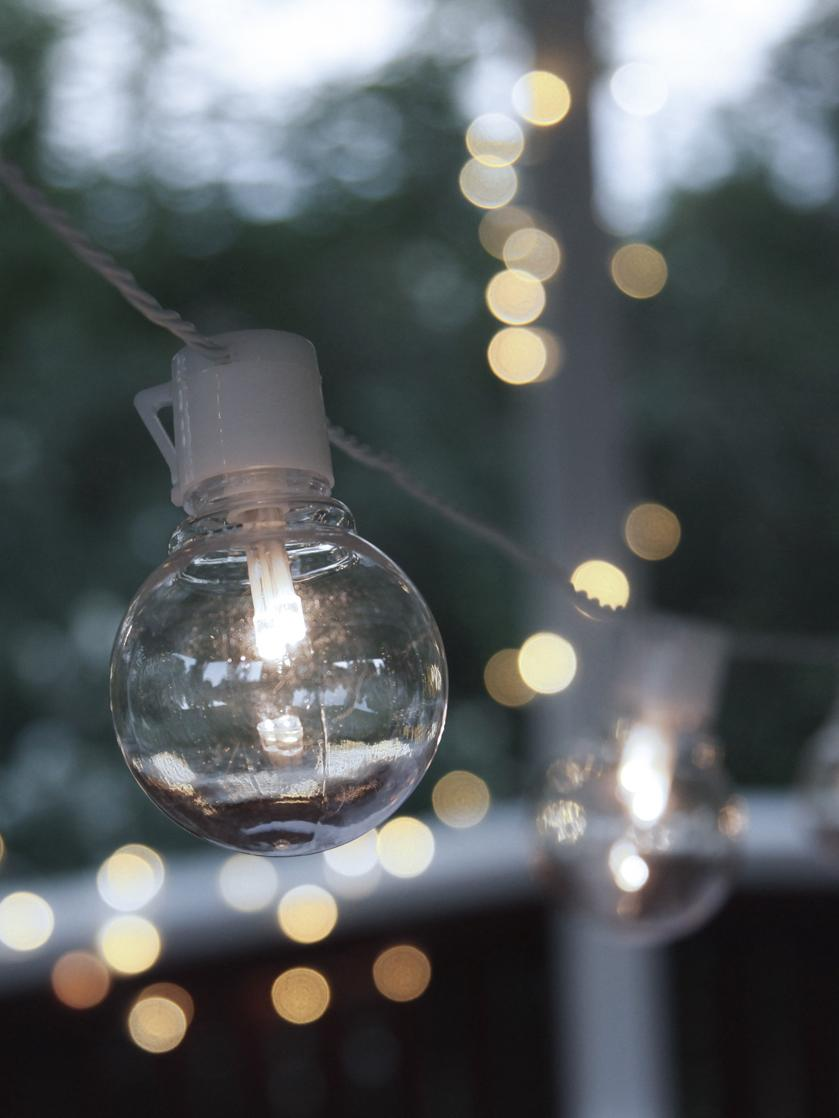 LED Lichterkette Partaj, 950 cm, Weiss, L 950 cm