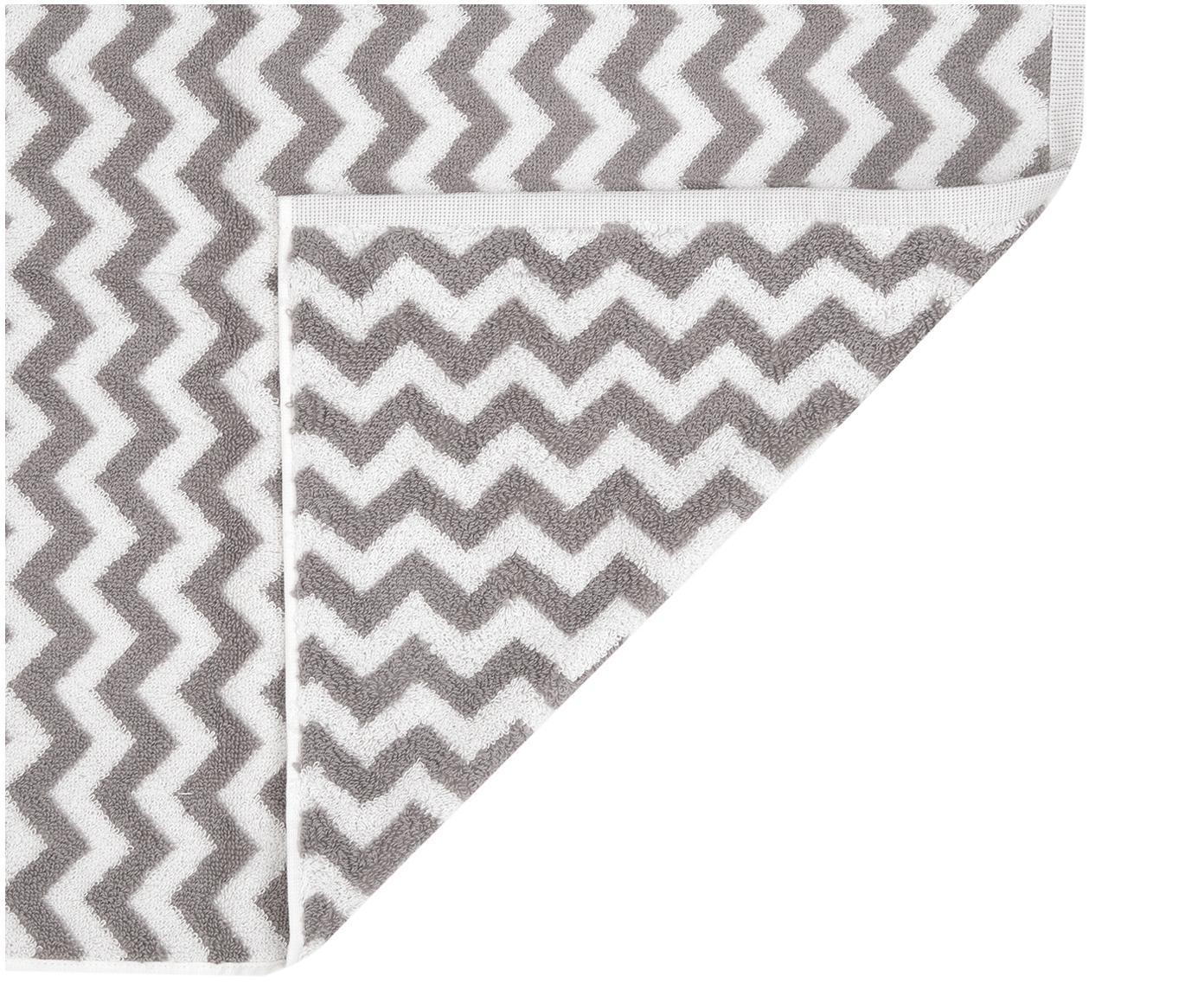 Handtuch Liv in verschiedenen Größen, mit Zickzack-Muster, Taupe, Cremeweiß, Handtuch