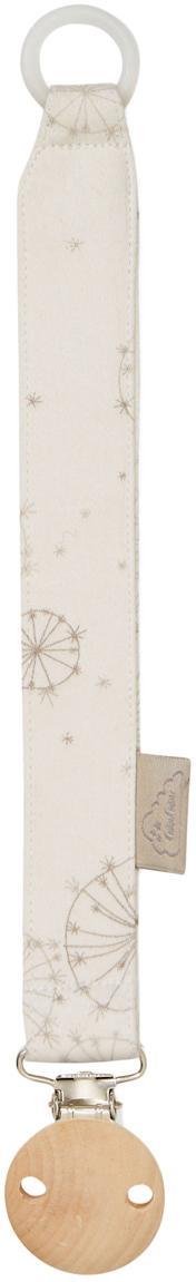 Schnullerkette Dandelion aus Bio-Baumwolle, Creme, Beige, L 20 cm