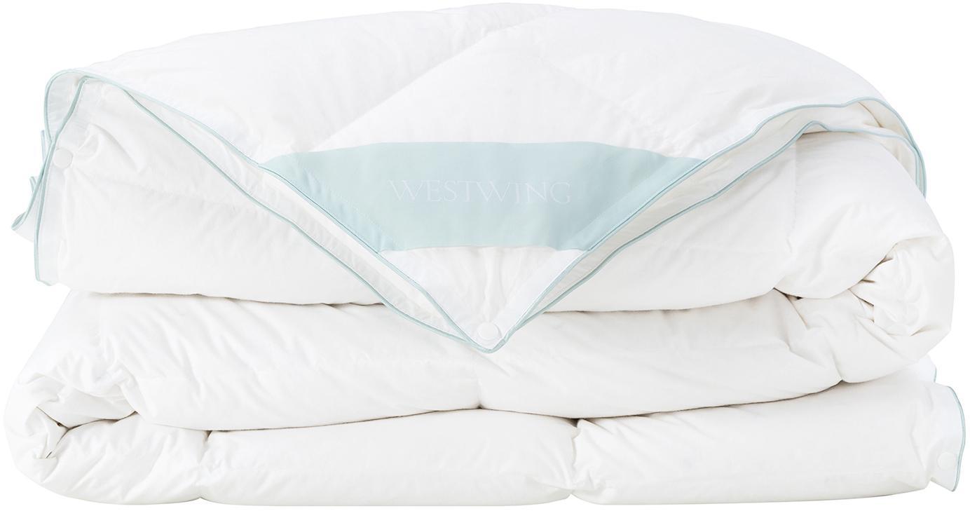 Daunen-Bettdecke Comfort, Vierjahreszeiten, Hülle: 100% Baumwolle, feine Mak, Weiß, 155 x 220 cm