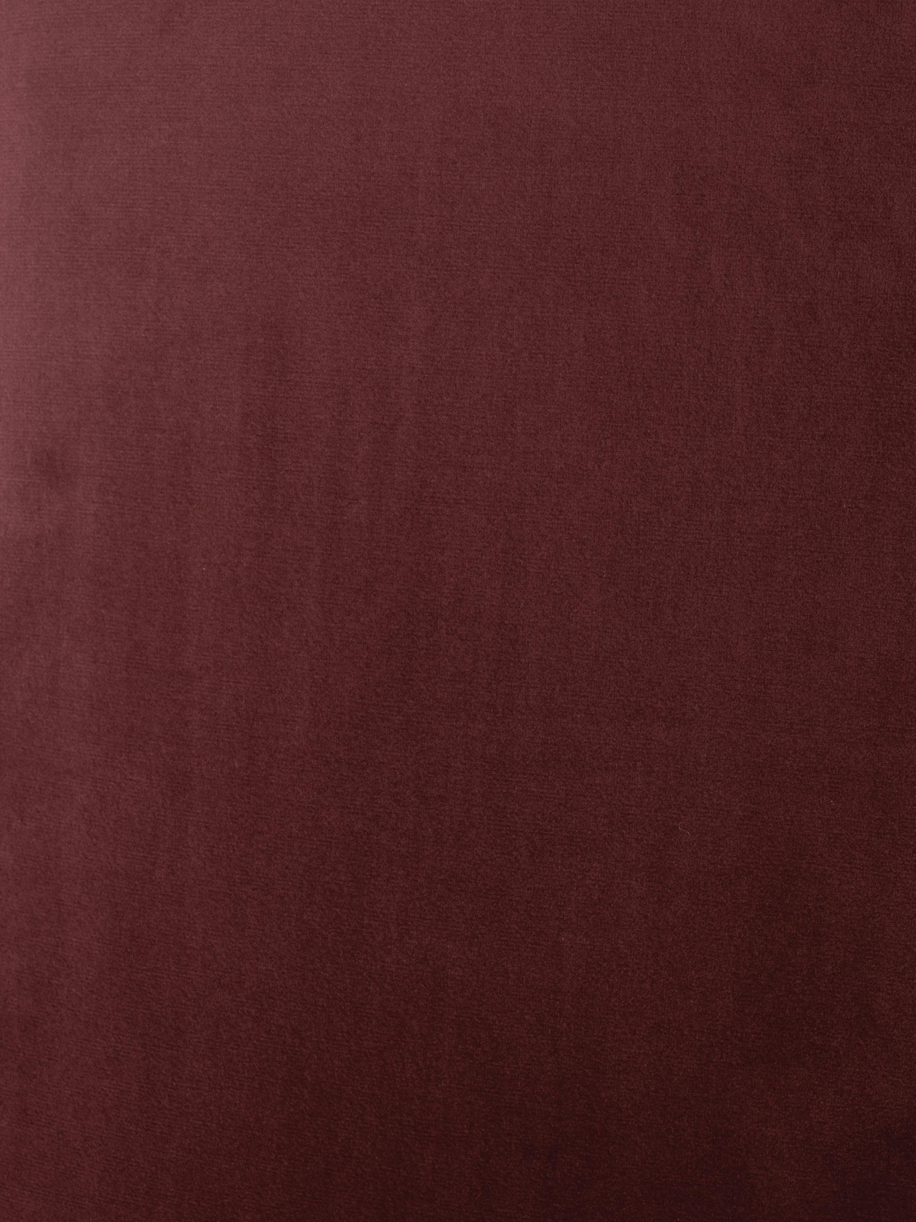 Canapé d'angle velours rouge rouille Fluente, Velours rouge rouille