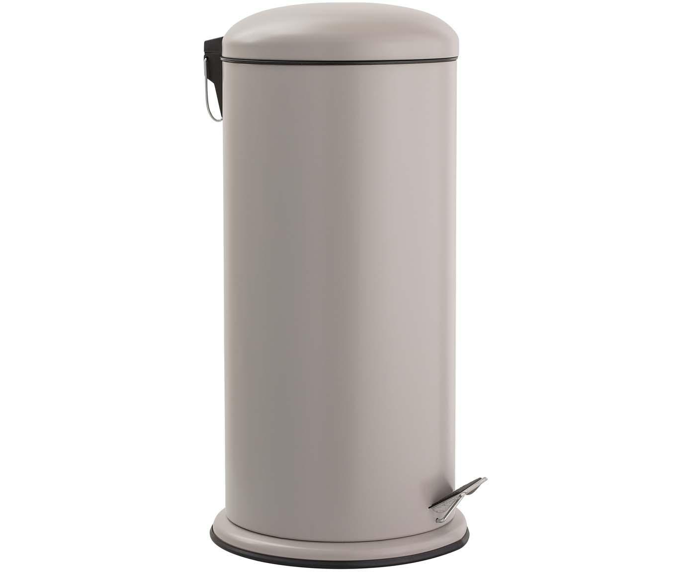 Abfalleimer Dustbin, Beige, Ø 30 x H 68 cm
