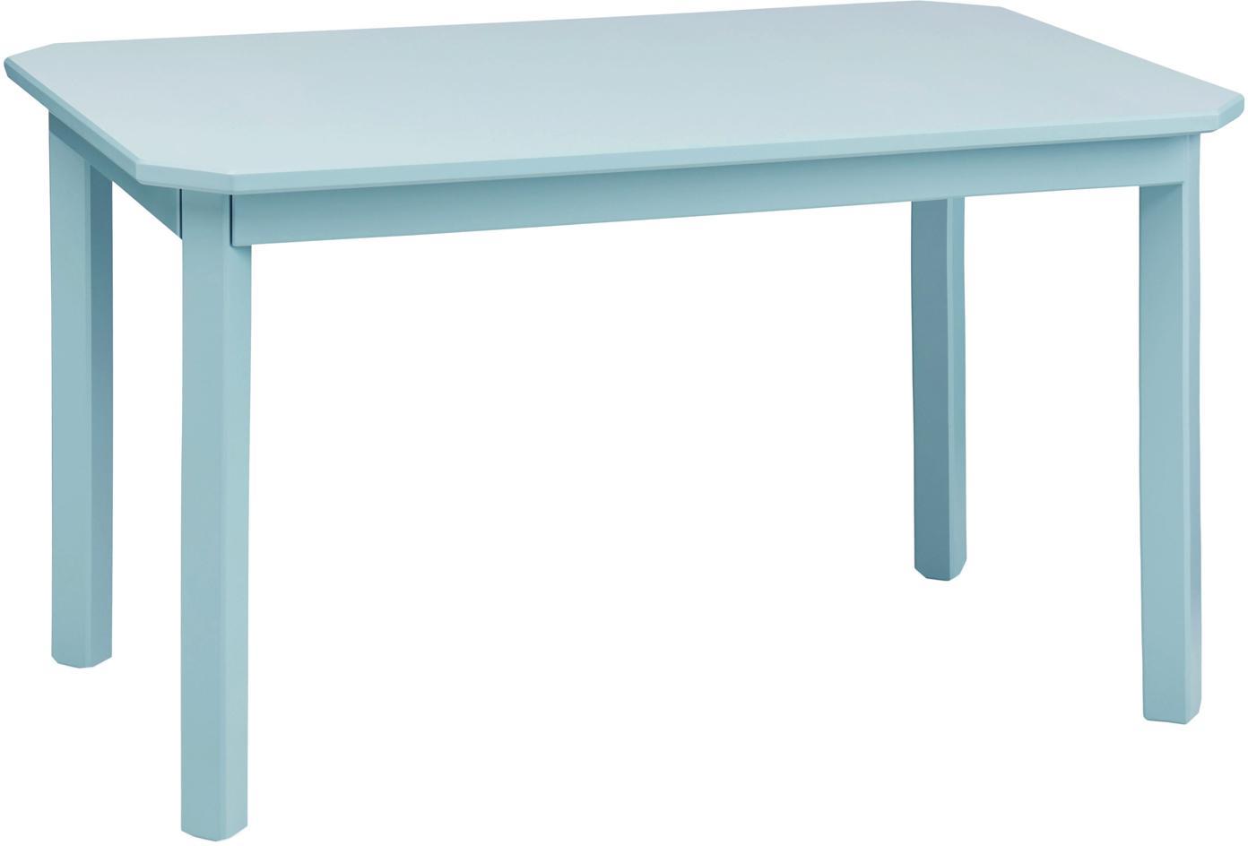 Tavolino per bambini Harlequin, Legno di betulla, pannelli di fibra a media densità (MDF), verniciato, Blu, Larg. 79 x Alt. 47 cm