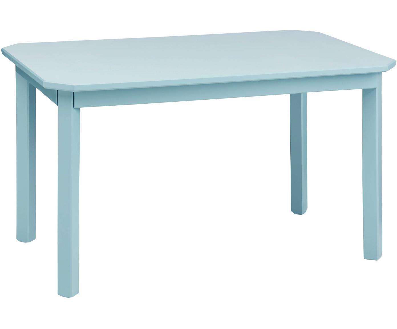 Kindertafel Harlequin, Berkenhout, gelakt MDF, Blauw, 79 x 47 cm