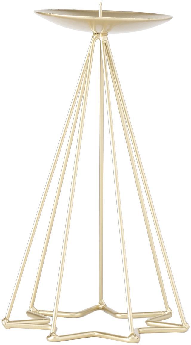 Kerzenhalter Romany, Metall, beschichtet, Goldfarben, Ø 12 x H 22 cm