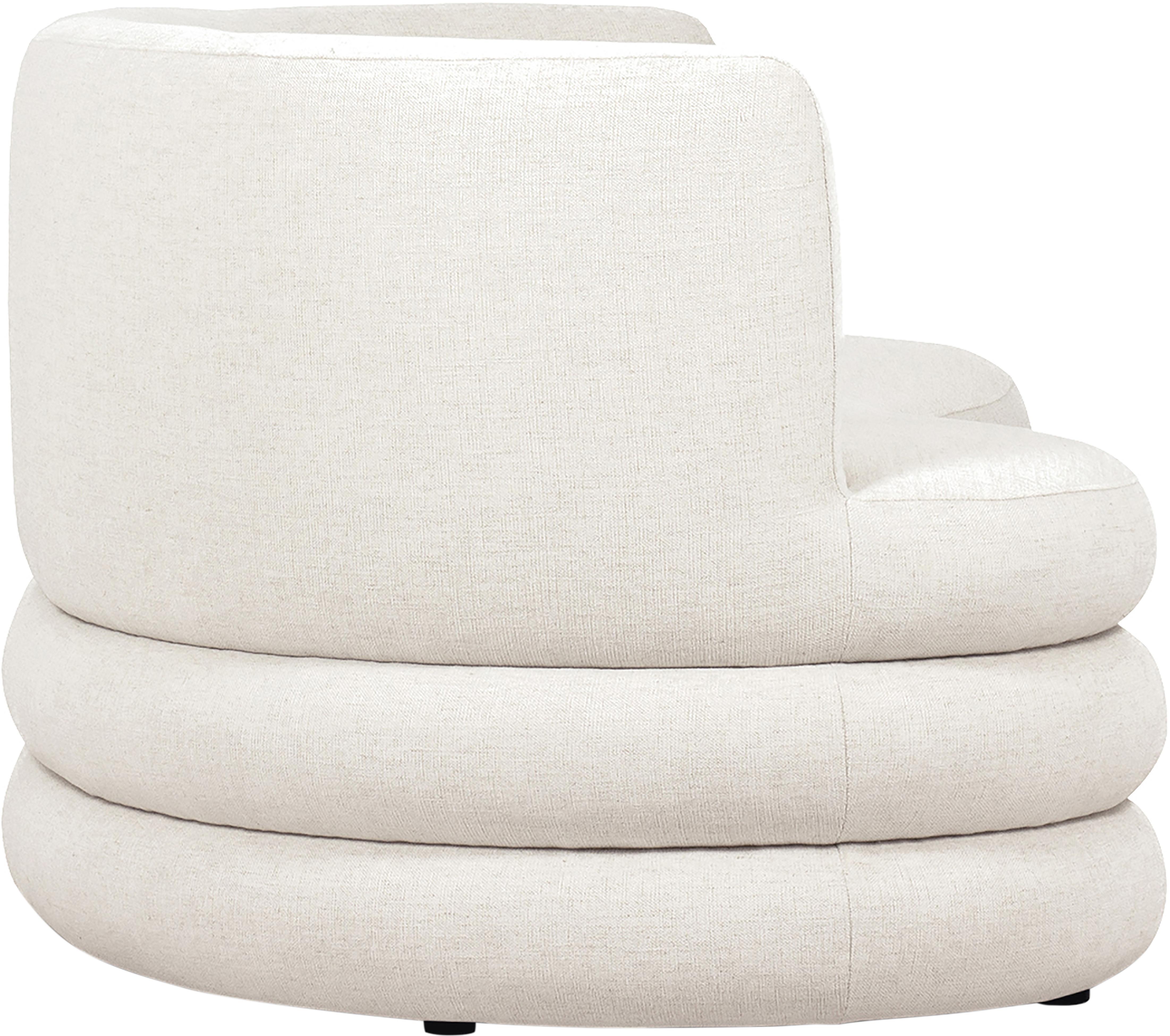 Sofa Solomon (3-Sitzer), Bezug: 56% Viskose, 21% Polyeste, Gestell: Massives Fichtenholz, Bir, Füße: Kunststoff, Webstoff Beige, B 200 x T 95 cm