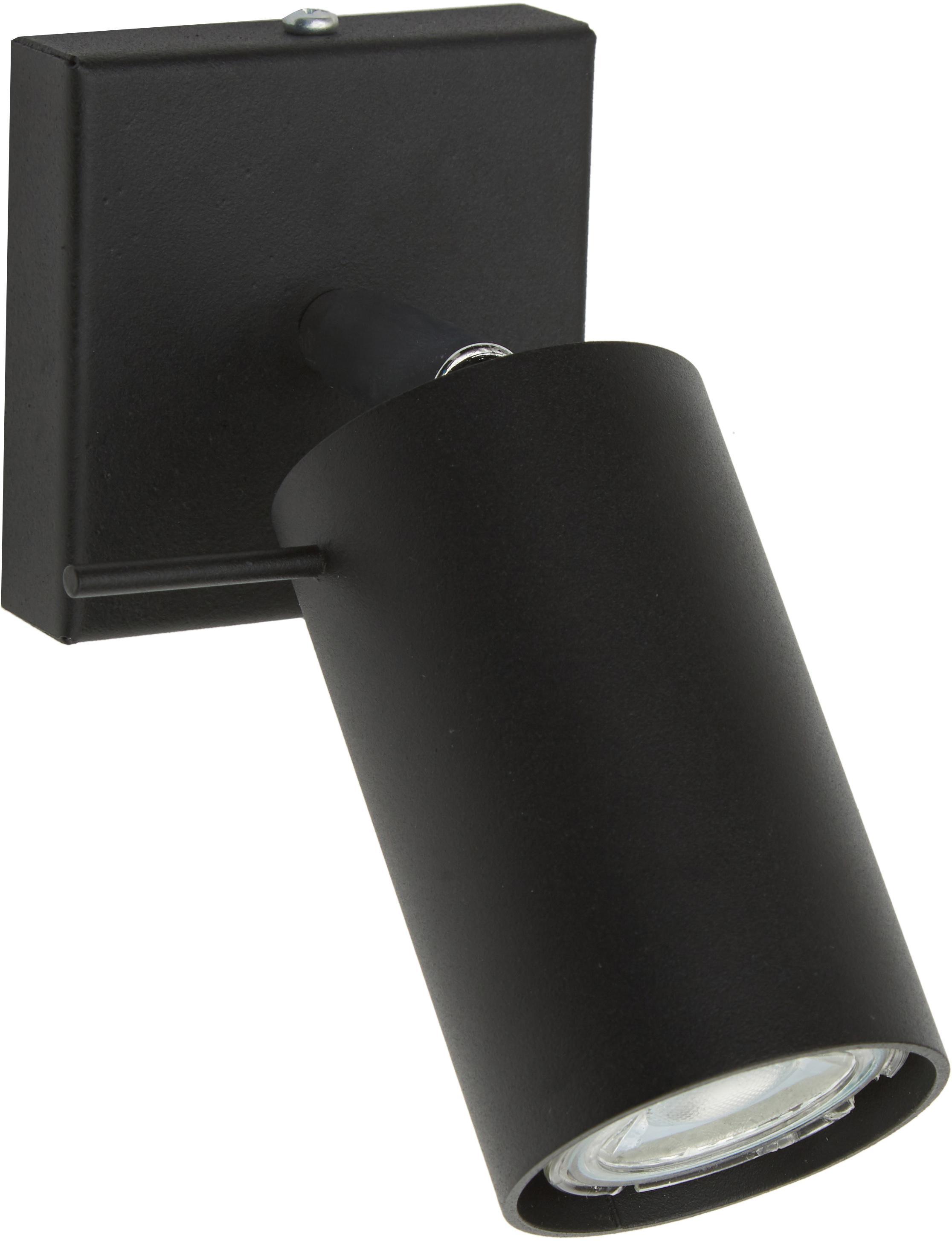 Foco Etna, Acero pintado, Negro, An 10 x Al 15 cm
