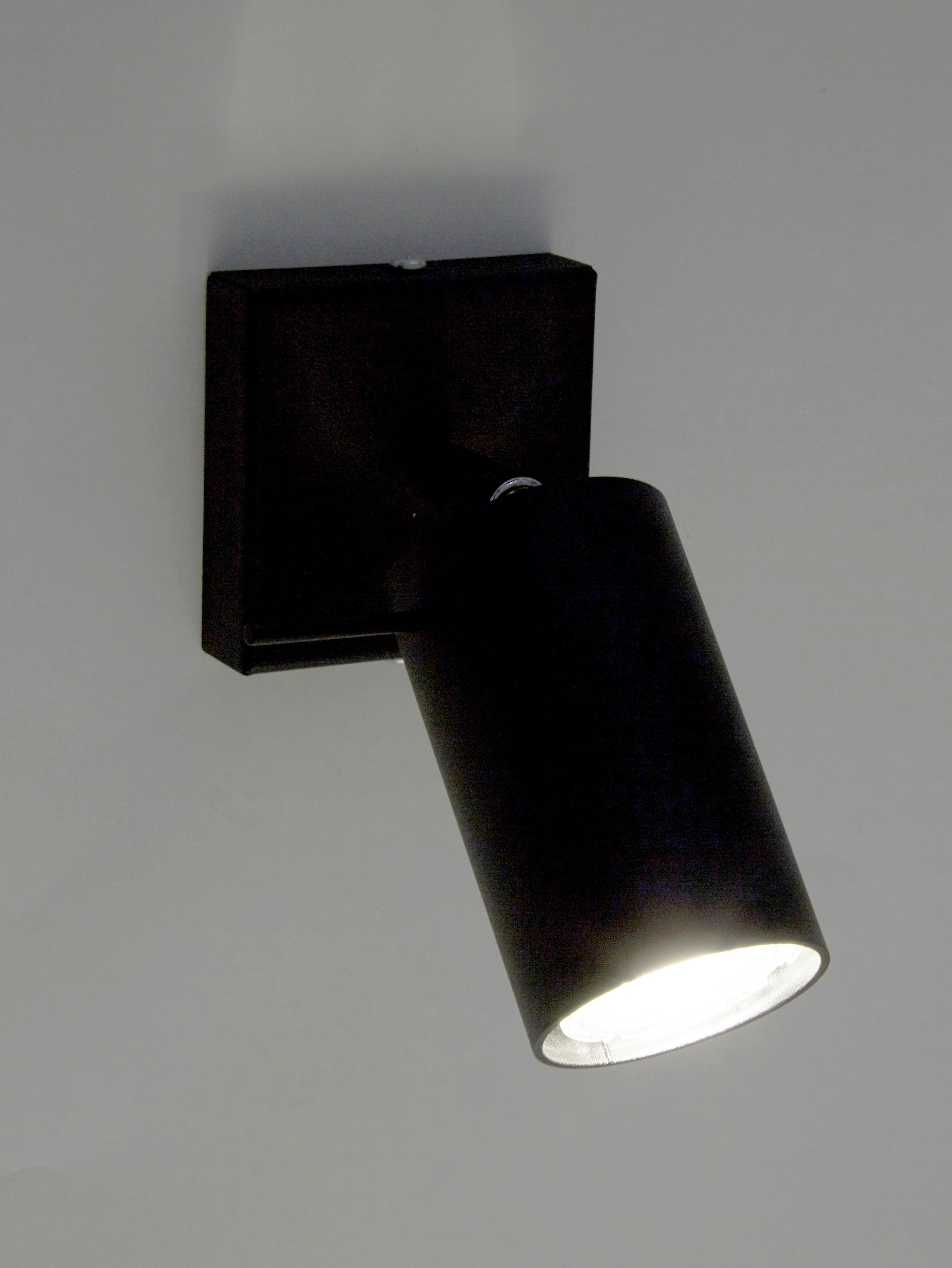 Deckenstrahler Etna in Schwarz, Stahl, lackiert, Schwarz, 10 x 15 cm