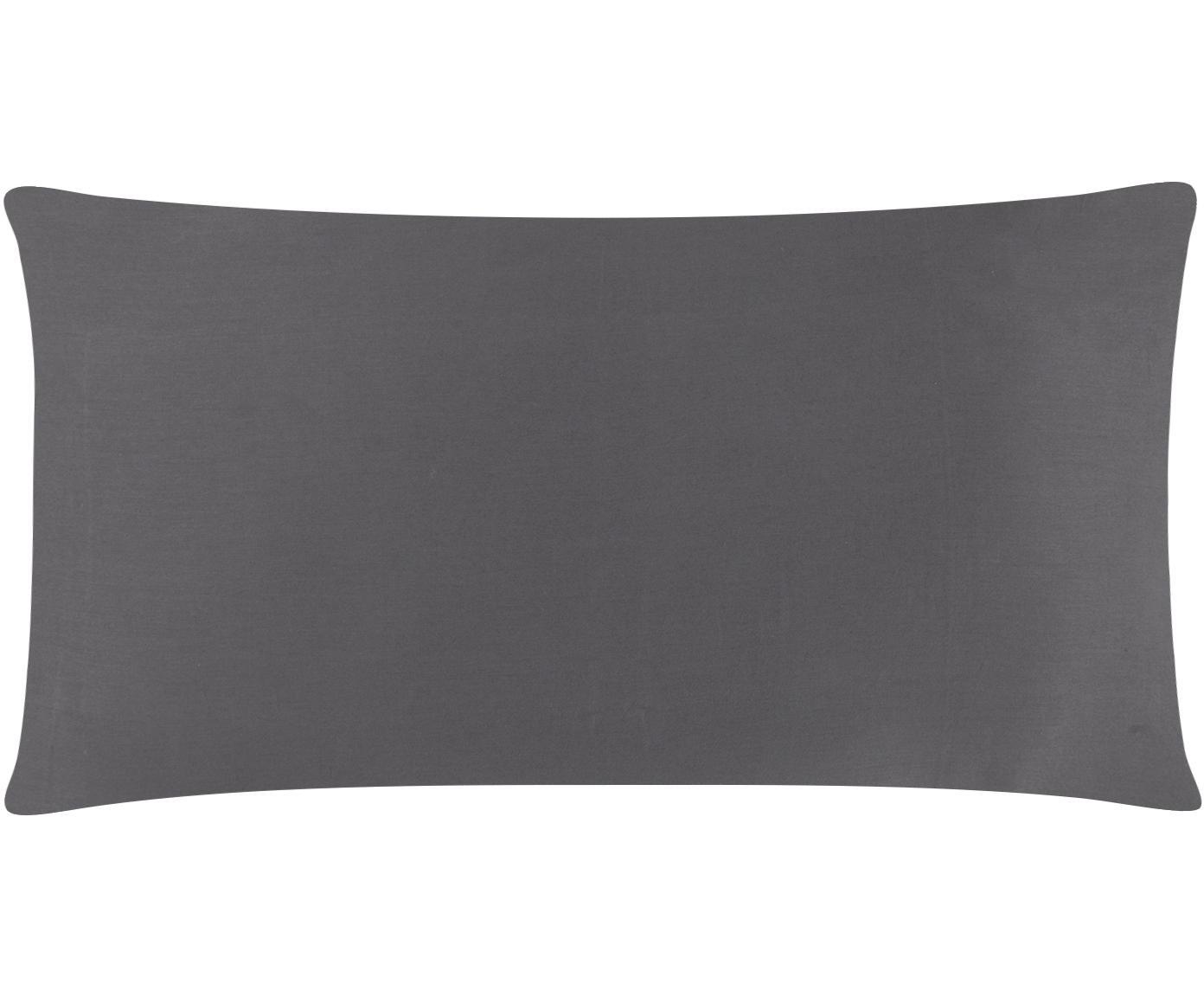 Funda de almohada de satén Comfort, Gris oscuro, An 45 x L 85 cm