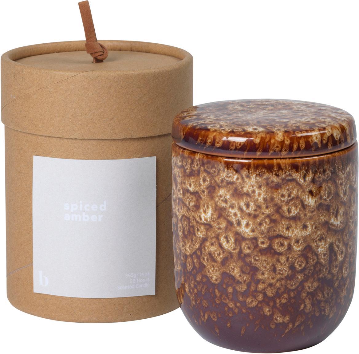 Świeca zapachowa Spiced Amber, Odcienie brązowego, Ø 8 x W 9 cm